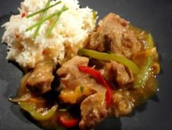 Recette du sauté de porc sauce aigre-douce au Cookeo